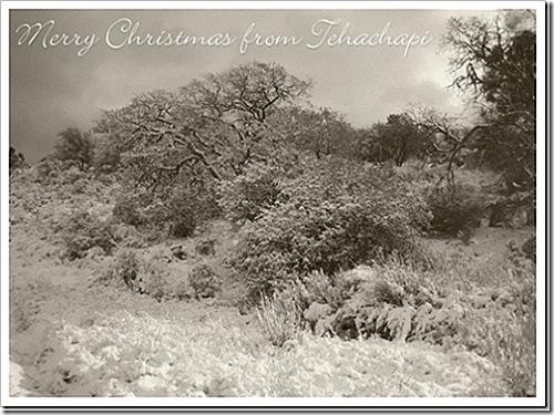 Christmas in Tehachapi