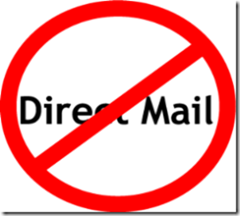 No direct mail