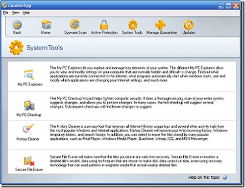 CounterSpy tools